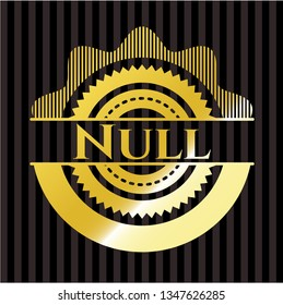 Null gold badge