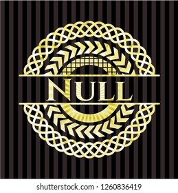 Null golden emblem