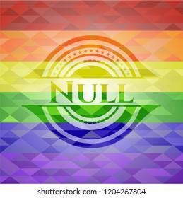 Null lgbt colors emblem