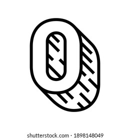 null number line icon vector. null number sign. isolated contour symbol black illustration