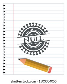 Null pencil effect. Vector Illustration. Detailed.