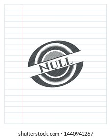 Null with pencil strokes. Vector Illustration. Detailed.