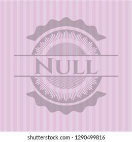 Null realistic pink emblem