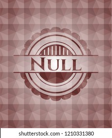 Null red polygonal badge. Seamless.