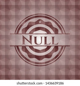 Null red seamless emblem with geometric pattern.