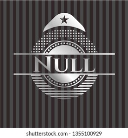 Null silvery shiny badge