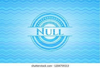 Null sky blue water emblem.