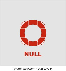 Null symbol. Outline null icon. Null vector illustration for graphic art.