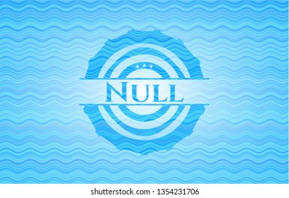 Null water wave style badge.