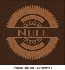 Null wooden signboards