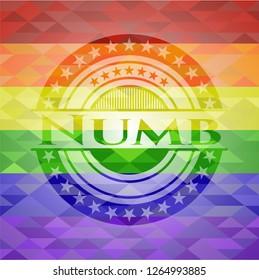 Numb lgbt colors emblem