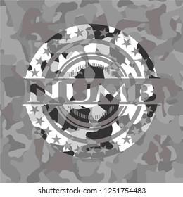 Numb on grey camo pattern