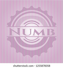 Numb pink emblem. Retro