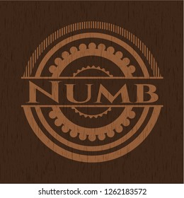 Numb wood signboards