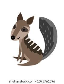 Numbat grey cartoon icon isolated on white background, vector illustration