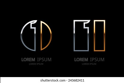 Number 1 logo. Vector logotype design.