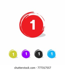 number 1 symbol vector