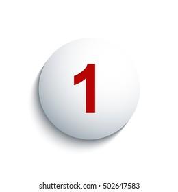"""Number """"1"""". Vector illustration."""