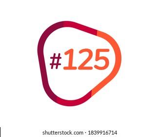 Number 125 image design, 125 logos