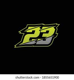Number 23 racing design vector