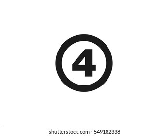 Number 4 icon vector illustration on white background
