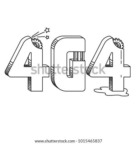 Number 404 Symbol Webpage Loading Error Stock Vector Royalty Free