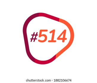 Number 514 image design, 514 logos