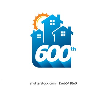 Number 600 logo or symbol template design