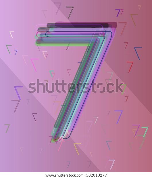 Number 7 background design