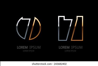Number 7 logo. Vector logotype design.