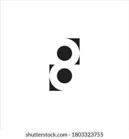 Number 8 logo design vector illustration template