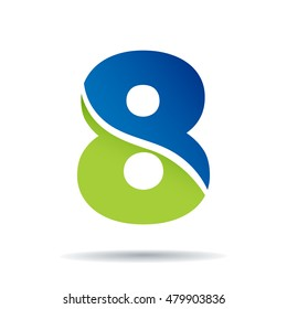 Number 8 logo icon design template elements