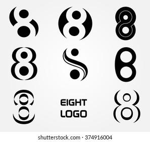 Number 8 logo.Vector logo design.