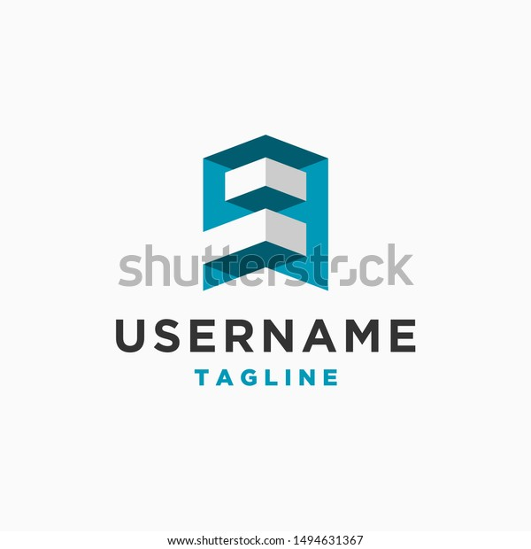 Number 9 Logo Design Inspiration Letter Stock Vector