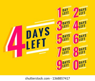 number of days left banner for sale and promotion