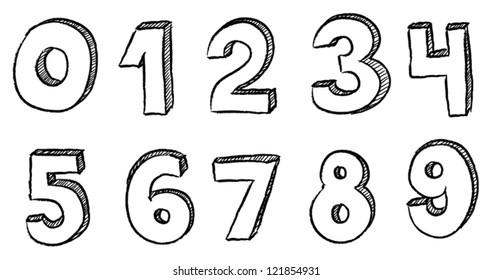 Number doodles