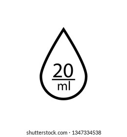 The number of drops per milliliter sign. 20 ml. Marking of medical products