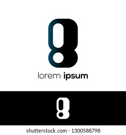 Number Eight Abstract Vector Logo Design Template. Creative Number Concept Icon, Logo 8