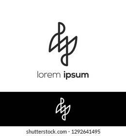 Number Four Abstract Vector Logo Design Template. Creative Number Concept Icon, Logo 4