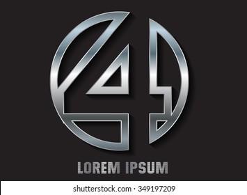 Number four logo.Logo 4 vector template.