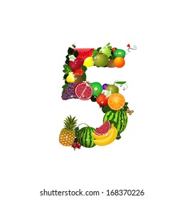 Number of fruit 5
