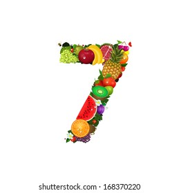 Number of fruit 7