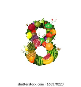 Number of fruit 8