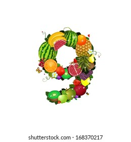 Number of fruit 9