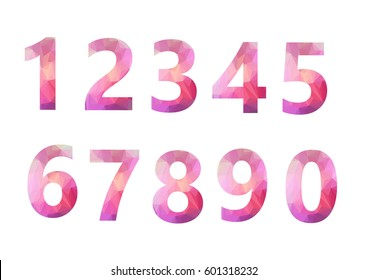 number geometric design on white background - Shutterstock ID 601318232