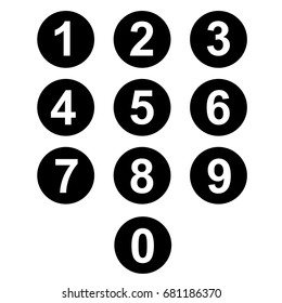 Number Icons circle separate use