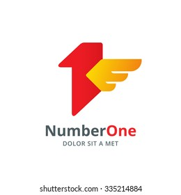 number one 1 logo icon design stock vector royalty free 335214950