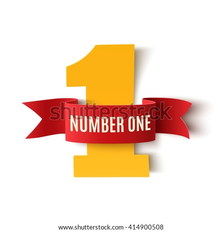 number one background white ribbon on stock vector royalty free