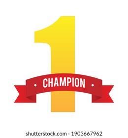 Nummer-1-Champion-Ribbon-Illustration