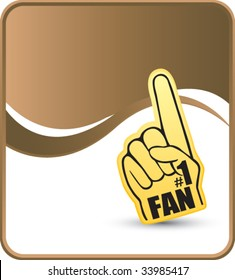 number one fan hand on vertical stock vector royalty free 39201040